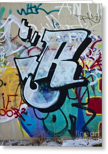 Deutschland Greeting Cards - Graffito Art detail Greeting Card by Heiko Koehrer-Wagner