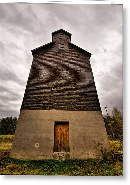 Grained Greeting Cards - Grain Elevator Greeting Card by Cale Best