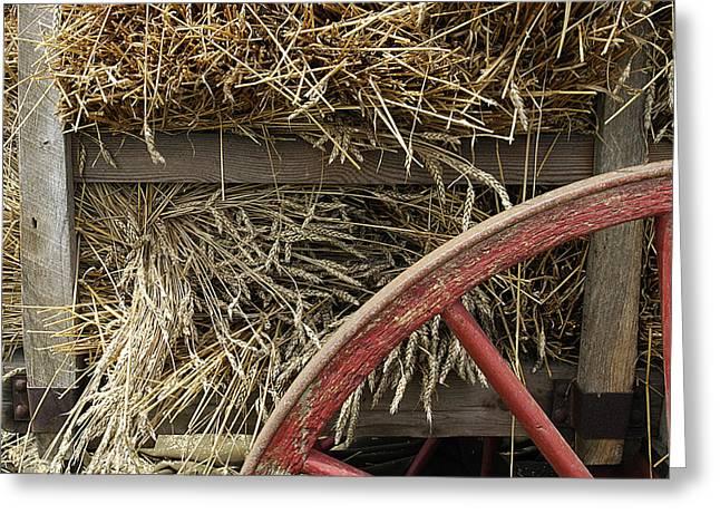 Wooden Wheels Greeting Cards - Grain wagon Greeting Card by Robert Ponzoni