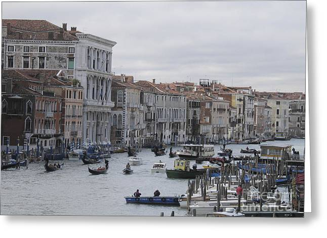 Italy Pyrography Greeting Cards - Gran Canal. Venice Greeting Card by Bernard Jaubert
