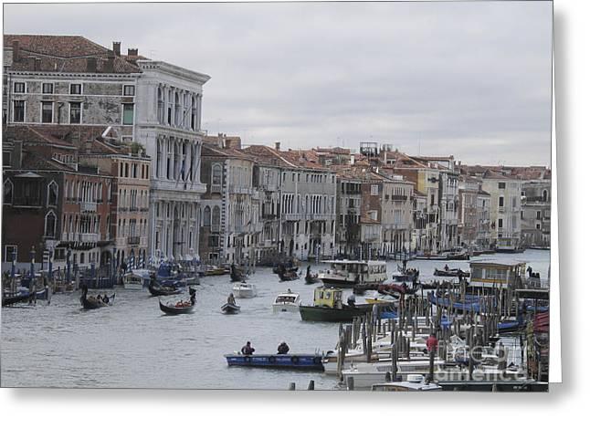 Gran Canal. Venice Greeting Card by BERNARD JAUBERT