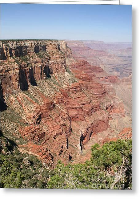 Audrey Campion Greeting Cards - Gran Canyon National Park Usa Arizona Greeting Card by Audrey Campion