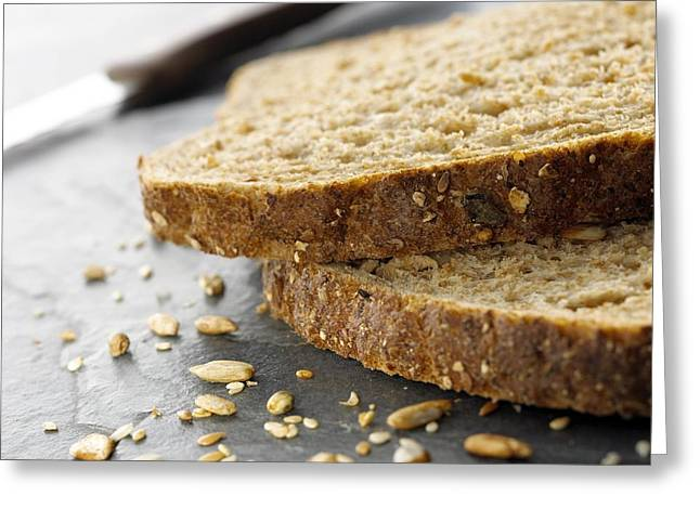 Wholewheat Greeting Cards - Granary Bread Greeting Card by Mark Sykes