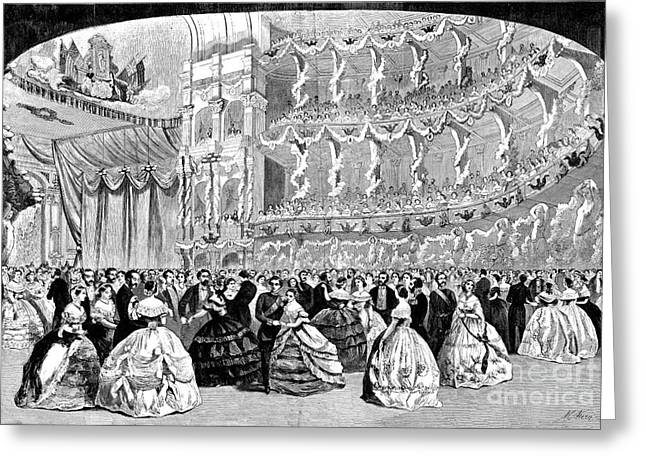 Wal Greeting Cards - Grand Ball, New York, 1860 Greeting Card by Granger