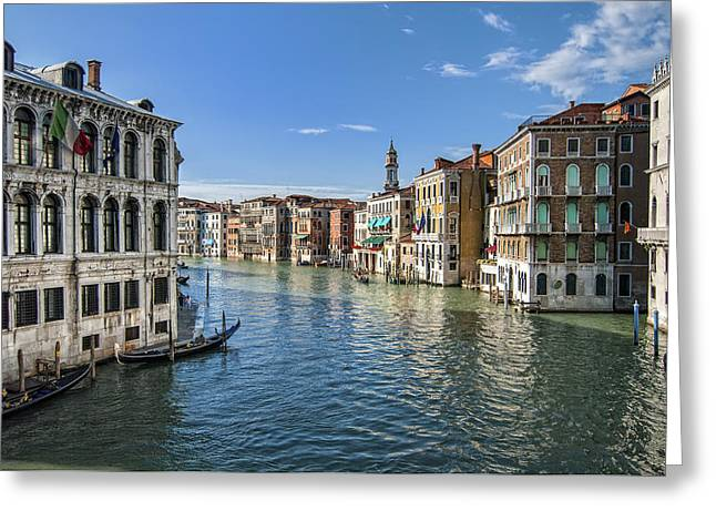 Jen Morrison Greeting Cards - Grand Canal Greeting Card by Jen Morrison