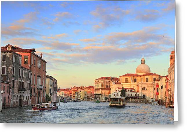 Vaporetto Greeting Cards - Grand Canal Greeting Card by Paul Cowan