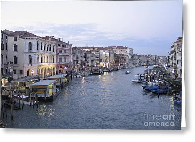 Canal Grande Greeting Cards - Grand canal. Venice Greeting Card by Bernard Jaubert