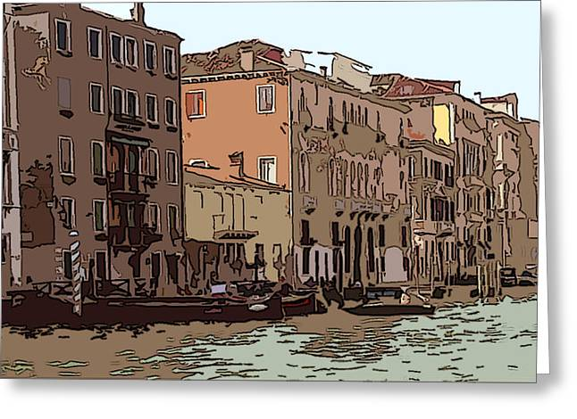 Sienna Italy Digital Art Greeting Cards - Grand Canal Venice I Greeting Card by Mindy Newman