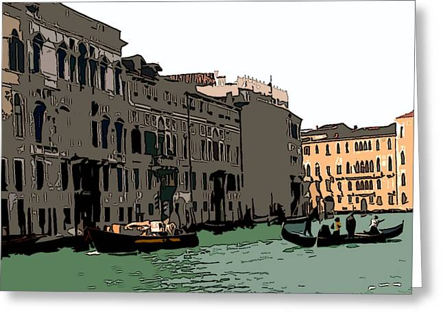 Sienna Italy Digital Art Greeting Cards - Grand Canal Venice III Greeting Card by Mindy Newman