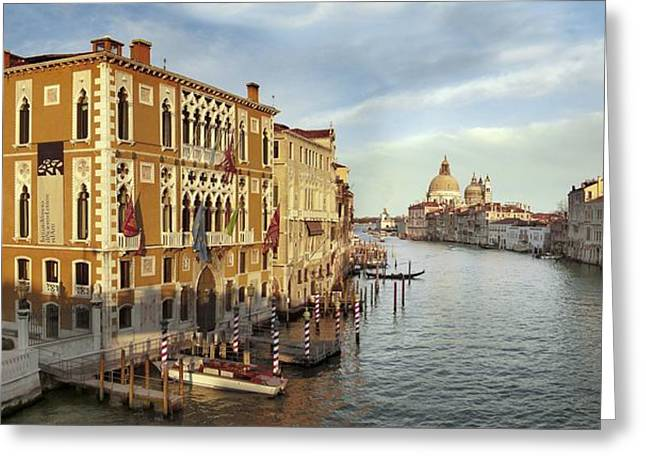21st Century Art Greeting Cards - Grand Canal, Venice Greeting Card by Tony Craddock