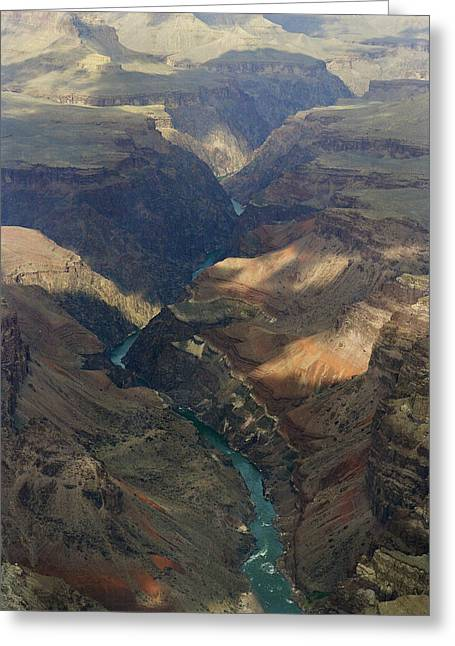 Arizona Framed Prints Greeting Cards - Grand Canyon and River In the Shade Greeting Card by M K  Miller