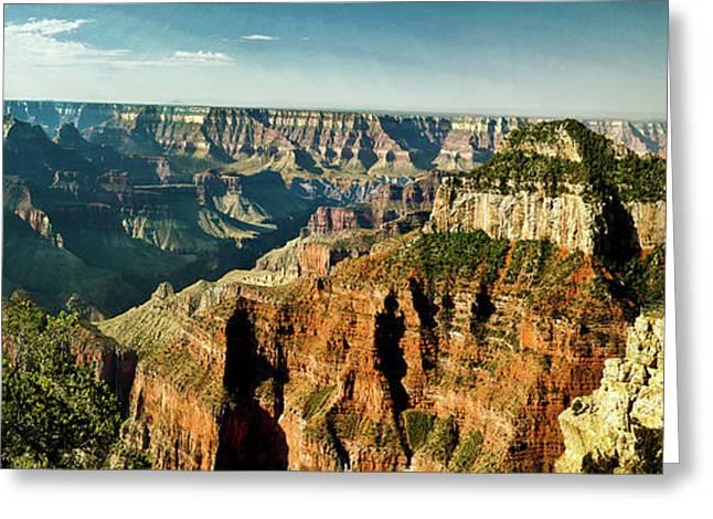 Grand Canyon Angel Panorama Greeting Card by Bob and Nadine Johnston