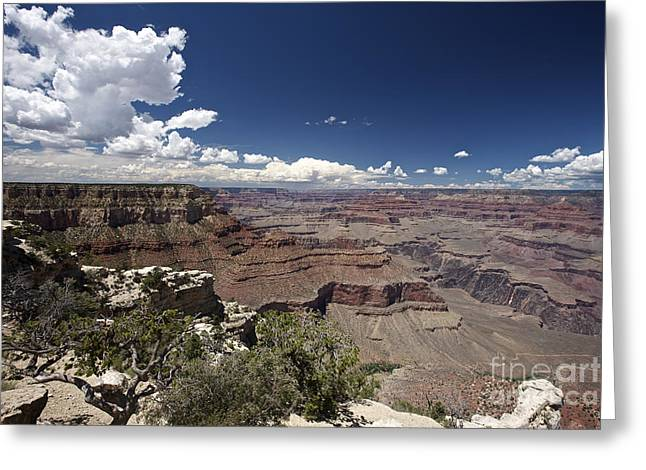 Clouds Over Canyon Greeting Cards - Grand Canyon As Seen From Yavapai Point Greeting Card by Terry Moore