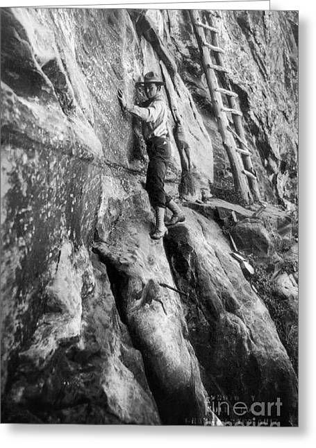 Early American Dwellings Greeting Cards - Grand Canyon: Climber Greeting Card by Granger