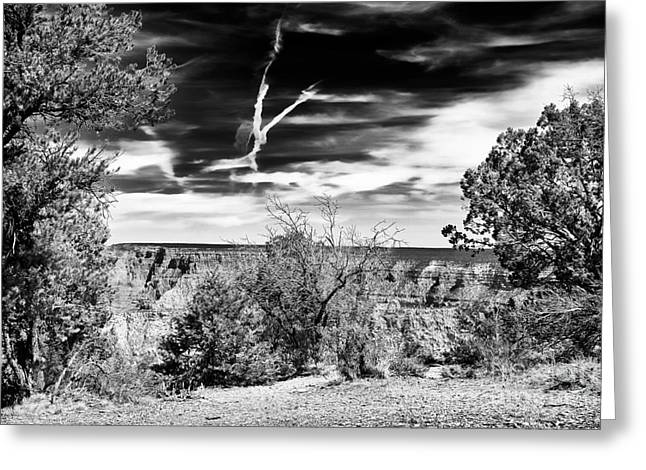The Grand Canyon Greeting Cards - Grand Canyon Cloud Patterns Greeting Card by John Rizzuto
