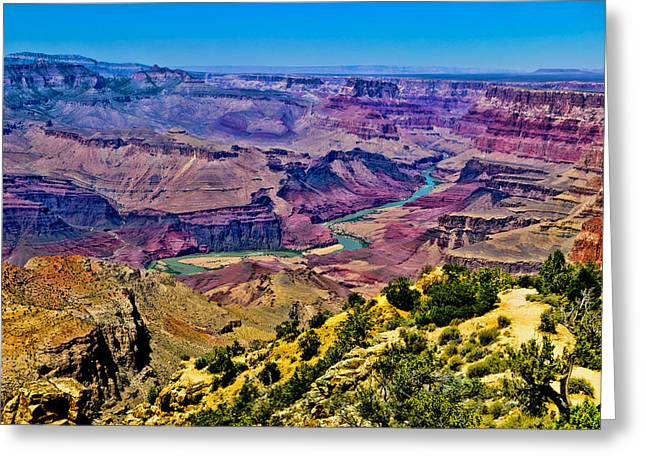 Majestic View Greeting Cards - Grand Canyon Colors Greeting Card by Jon Berghoff