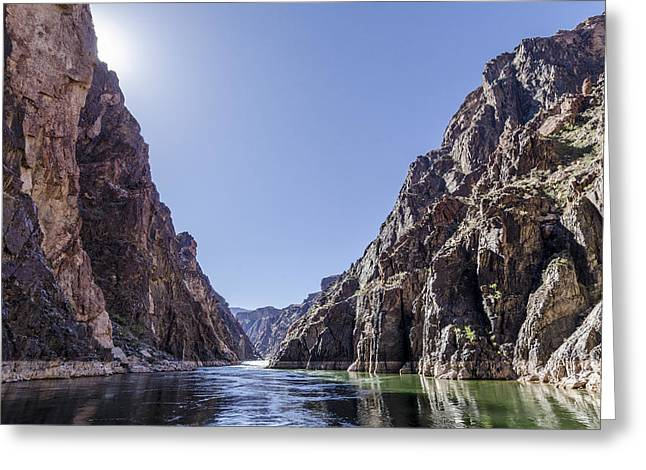 Grand Canyon gorge Greeting Card by Steve Williams