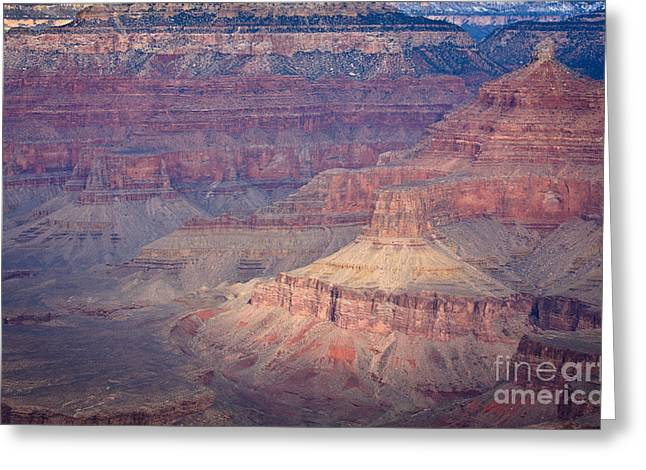 Deep Layer Greeting Cards - Grand Canyon in winter Greeting Card by Olivier Steiner