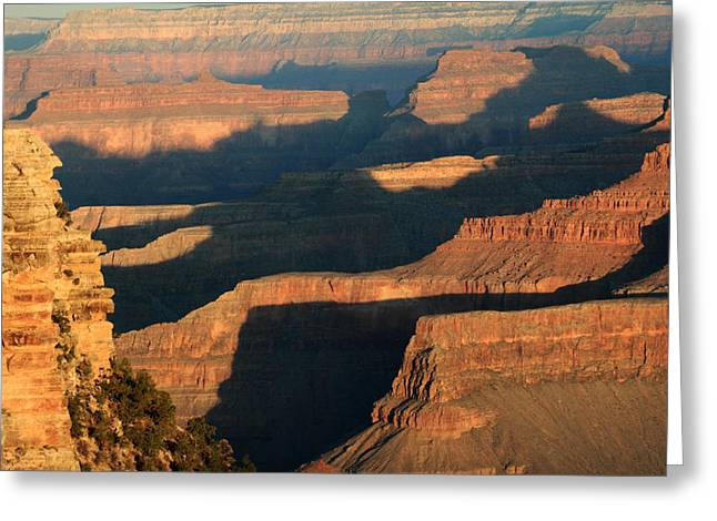 World Wonder Greeting Cards - Grand Canyon Morning Glow Greeting Card by Pierre Leclerc Photography