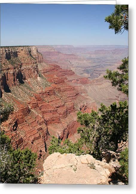 Audrey Campion Greeting Cards - Grand Canyon National Parc Usa  Greeting Card by Audrey Campion