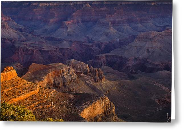 South Rim Greeting Cards - Grand Canyon Panorama Greeting Card by Andrew Soundarajan