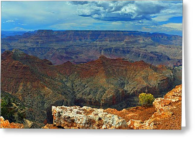 Grand Canyon Panoramic View Greeting Card by Gene Sherrill