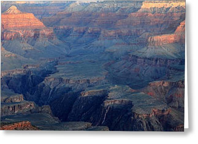 Awsome Greeting Cards - Grand Canyon Sunrise Panorama Greeting Card by Pierre Leclerc Photography
