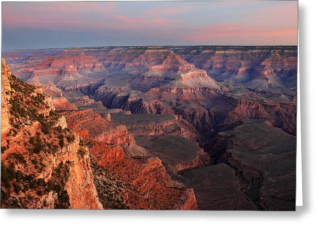 Grand Canyon Sunrise Greeting Card by Pierre Leclerc Photography