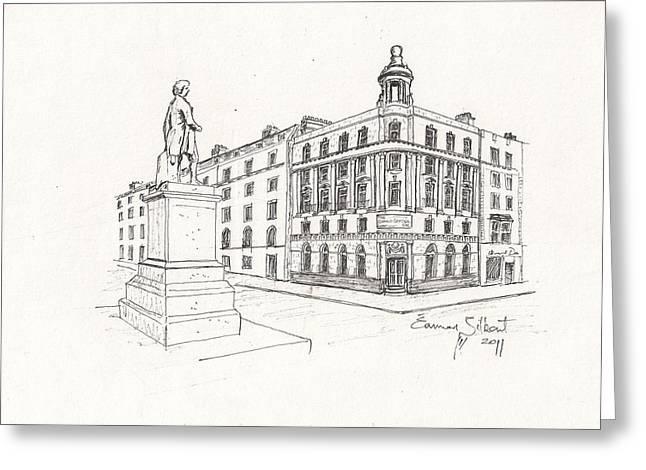 Grand Central Bar Dublin Greeting Card by Eamon Gilbert