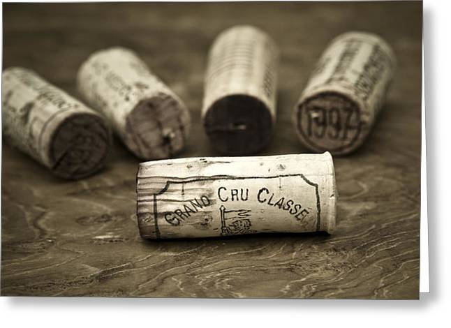 Wine Deco Art Photographs Greeting Cards - Grand Cru Classe Greeting Card by Frank Tschakert