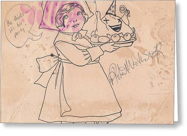 Raw Drawings Greeting Cards - Grand Delusion Greeting Card by Robert Wolverton Jr