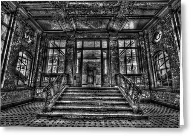 Bauwerk Greeting Cards - Grand entrance Greeting Card by Nathan Wright