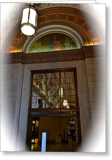 Entryway Photographs Greeting Cards - Grand Entryway Greeting Card by Frozen in Time Fine Art Photography