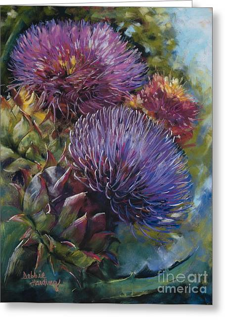 Close Up Floral Pastels Greeting Cards - Grand Finale Greeting Card by Debbie Harding