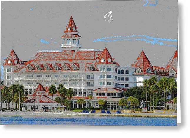 Walt Disney World Greeting Cards - Grand Floridian in Summer Greeting Card by David Lee Thompson