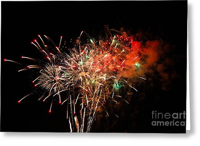Grand Haven Mi fireworks Greeting Card by Robert Pearson