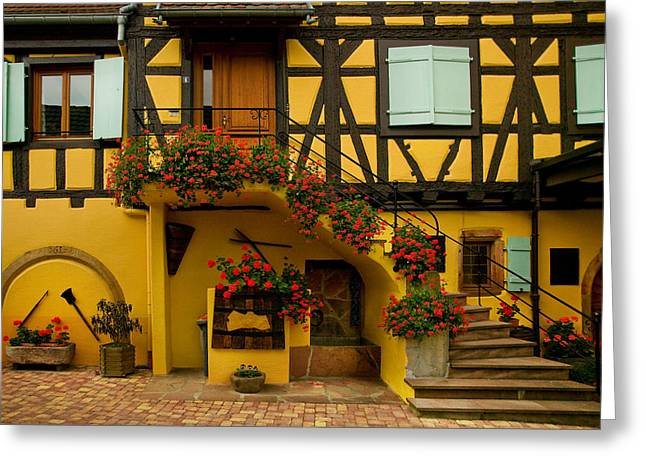 Alsace Greeting Cards - Grand House Greeting Card by John Galbo