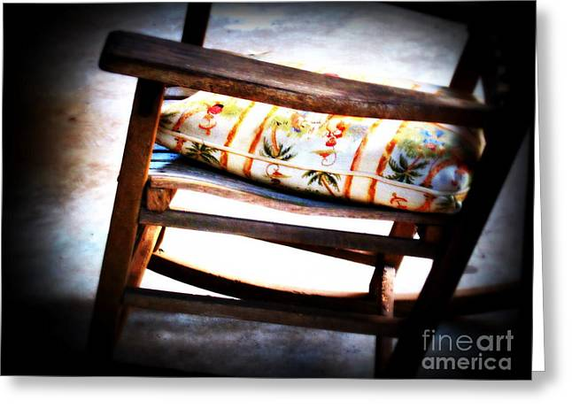 Rocking Chairs Greeting Cards - Grand-Pa Left Greeting Card by Susanne Van Hulst