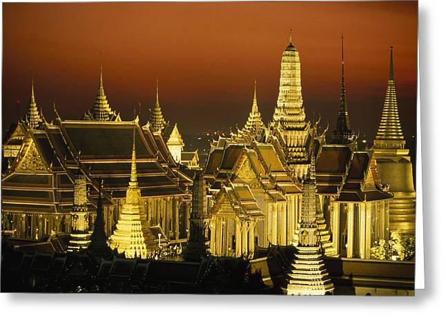 Gilding Greeting Cards - Grand Palace And Temple Of The Emerald Greeting Card by Paul Chesley
