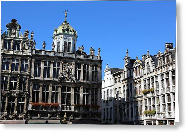 Grand Place Buildings Greeting Card by Carol Groenen