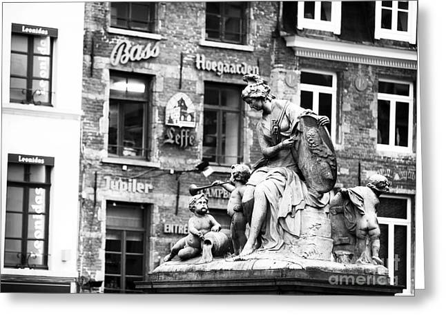 Union Square Greeting Cards - Grand Place Statue Greeting Card by John Rizzuto
