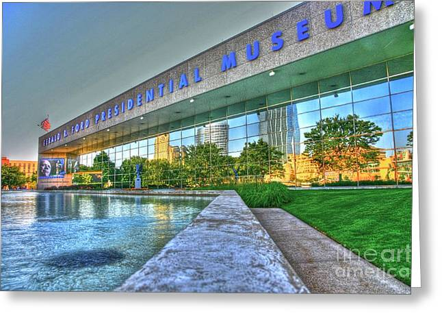 Gerald Ford Greeting Cards - Grand Rapids Mi- 16 HDR Greeting Card by Robert Pearson