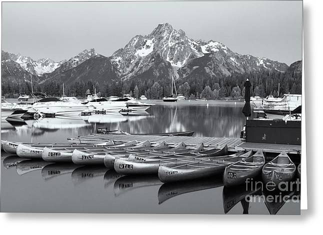 Black Lodge Photographs Greeting Cards - Grand Teton Dawn IV Greeting Card by Clarence Holmes