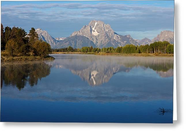 Grand Teton Morning Greeting Card by Johan Elzenga