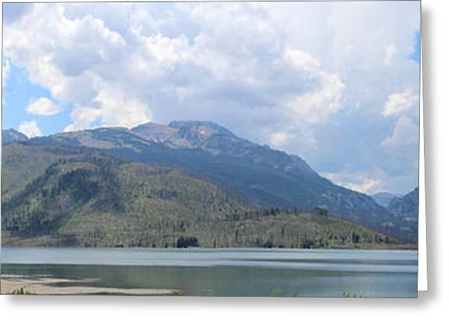 Saw Greeting Cards - Grand Teton Mountain Range across Jackson Lake Greeting Card by Adam Long