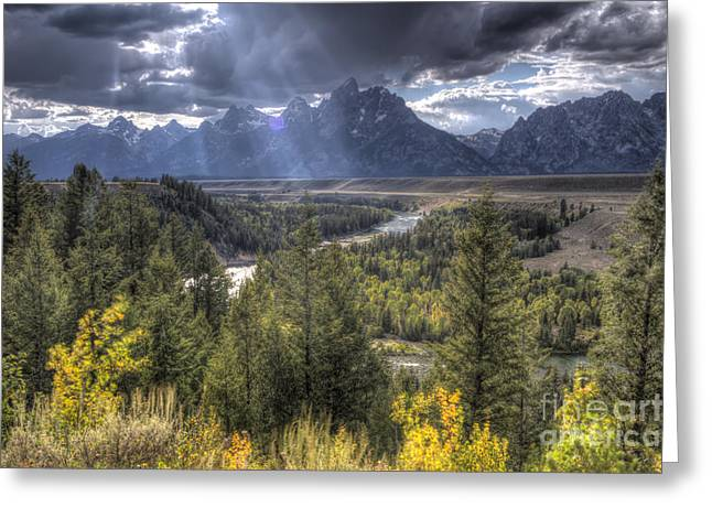 Snake River Greeting Cards - Grand Teton National Park and Snake River Greeting Card by Dustin K Ryan