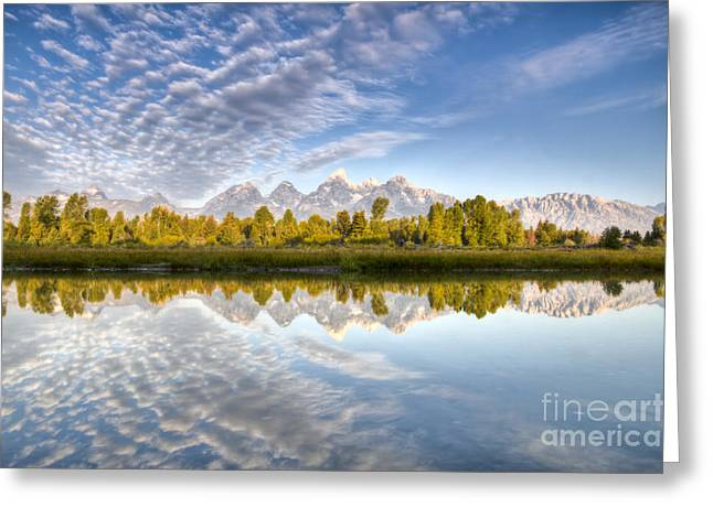 Beautiful Landing Greeting Cards - Grand Teton Reflections Jackson Hole Greeting Card by Dustin K Ryan