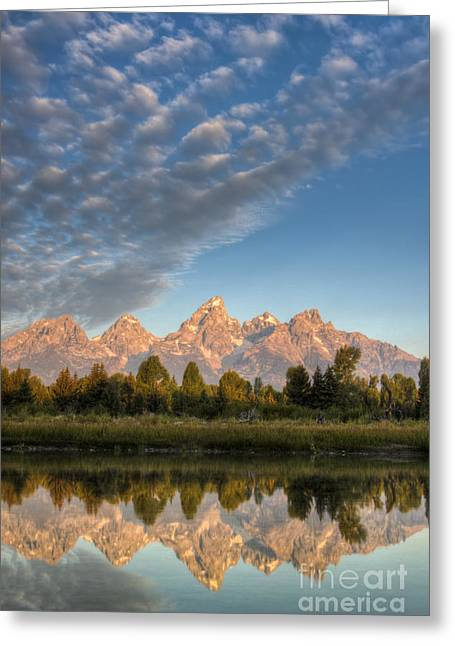Grand Teton Photographs Greeting Cards - Grand Teton Sunrise Jackson Hole WY Greeting Card by Dustin K Ryan
