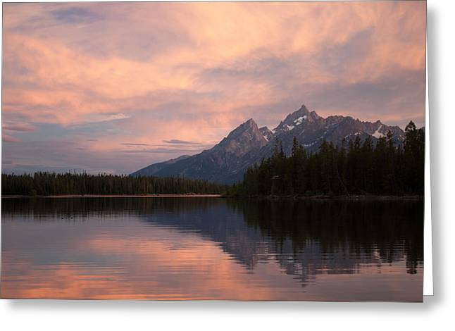 Grand Teton Sunset Greeting Card by Bruce Gourley