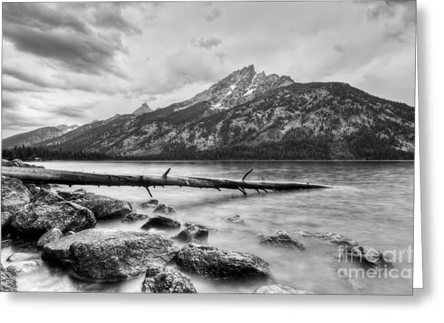 Mountains And Lake Greeting Cards - Grand Tetons above Jenny Lake Jackson Hole Greeting Card by Dustin K Ryan